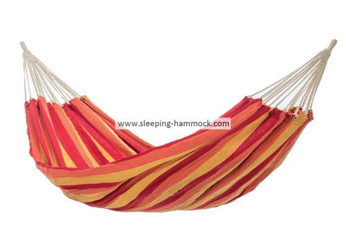 Outdoor Quick Dry Heavy Duty South American Hammock Ocean Replacement Orange Yellow Stripe