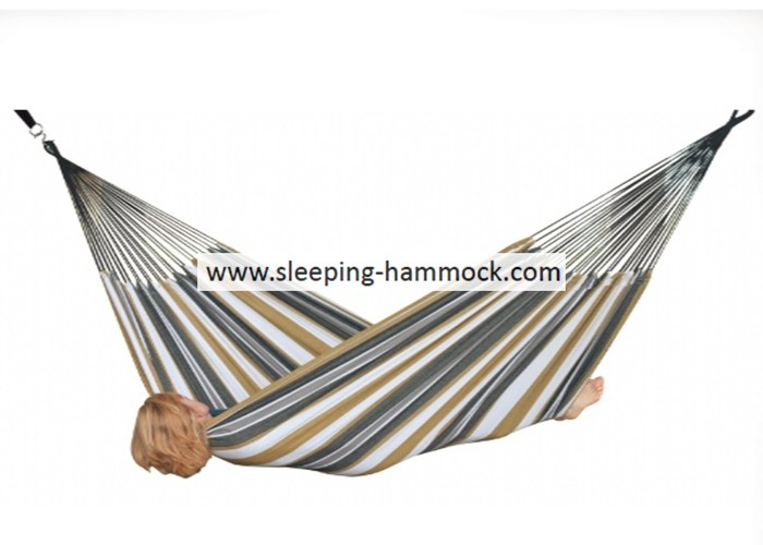 Palm Collapsible Lounge Durable Sturdy Brazilian Style Hammock Sunset Stripe 250 X 175 Cm