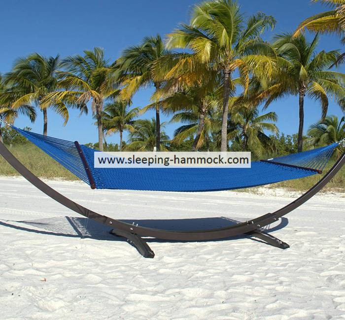 Extra Large Dark Blue Roman Arc Polyester Rope Hammock With Stand Seat Island 55 X 84 Inches